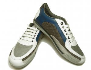 No.8  <訳あり・アウトレット>スニーカー 靴  メッシュ ファブリック PORTOS (ホワイト)7.5サイズ