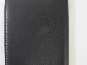 No.8  <訳あり・アウトレット>メンズ  パスポートケース(ブラック)