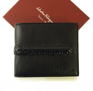 サルヴァトーレフェラガモ 財布 メンズ 二つ折 イントレチャート (ブラック)