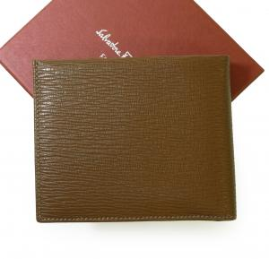 No.2 財布 メンズ ペブルカーフ 二つ折 (ブラウン)
