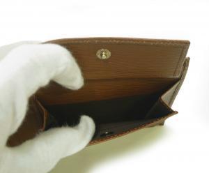 No.6 財布 メンズ ペブルカーフ 二つ折 (ブラウン)