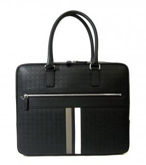 サルヴァトーレフェラガモ ビジネスバッグ ブリーフケース メンズ カーフ ブラック BANNER