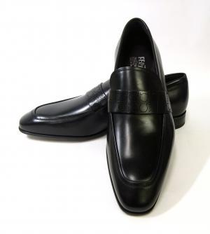 サルヴァトーレフェラガモ 靴 シューズ メンズ レザー ビジネス フォーマル GOLIATH (ブラック) 8(日本サイズ約26.5cm) MainPhoto