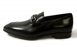No.6 靴 モカシンシューズ  メンズ レザー ビジネス ブラック 7サイズ(日本サイズ約25.5cm) GIANT