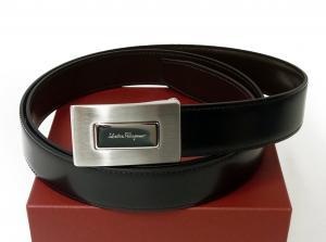 サルヴァトーレフェラガモ リバーシブルベルト メンズ (ブラック・ダークブラウン)115cm