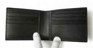 No.4 財布 札入れ 二つ折り (ブラック)*小銭入れなし