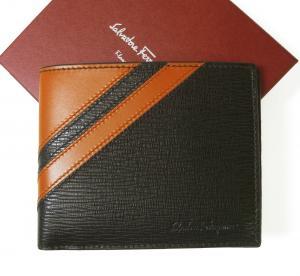 サルヴァトーレフェラガモ 財布 札入れ 二つ折り (フォンデンテ)*小銭入れなし