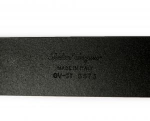 No.2 <訳あり・アウトレット>ベルト メンズ 長さ調整可能 ガンチーニバックル(ブラック) 115cm