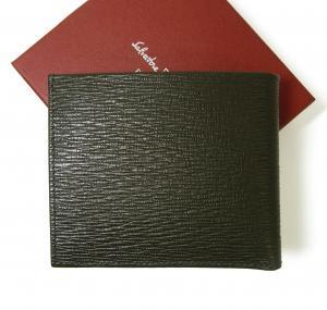 No.2 財布 二つ折 型押し ペブルカーフ(ダークグレー×ブルー)