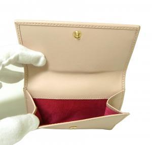 No.5 財布 ガンチーニロゴエンボス 二つ折(ボンボンピンク)