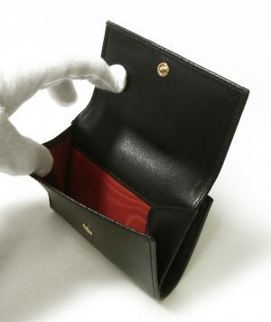 No.6 財布 ガンチーニロゴエンボス 二つ折(ブラック)