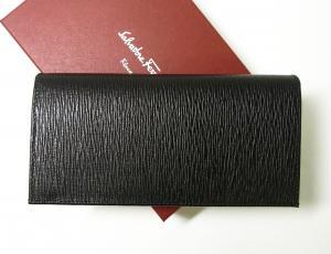 No.2 長財布 メンズ カード大容量(ブラック×フィヨルドブルー)