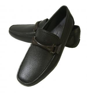 サルヴァトーレフェラガモ 靴 ドライビング シューズ メンズ レザー ブラック GRANPRIX
