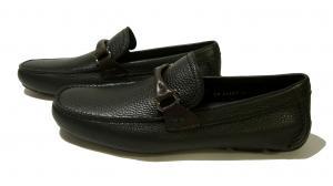 No.2 靴 ドライビング シューズ メンズ レザー ブラック GRANPRIX