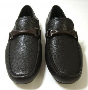 No.3 靴 ドライビング シューズ メンズ レザー ブラック GRANPRIX