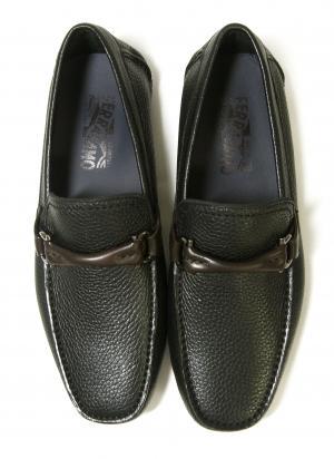 No.4 靴 ドライビング シューズ メンズ レザー ブラック GRANPRIX