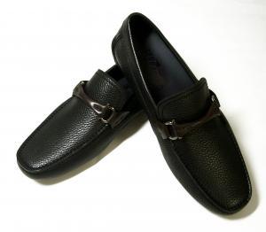 No.5 靴 ドライビング シューズ メンズ レザー ブラック GRANPRIX