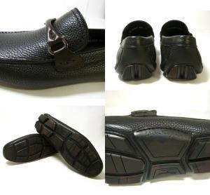 No.6 靴 ドライビング シューズ メンズ レザー ブラック GRANPRIX