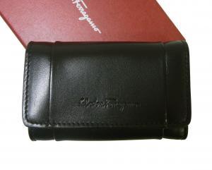 サルヴァトーレフェラガモ キーケース メンズ キーリング付 6連(ブラック)