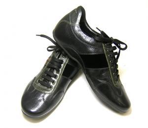 サルヴァトーレフェラガモ スニーカー 靴 メンズ (ブラック)9(日本サイズ約27.5cm)
