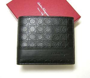 サルヴァトーレフェラガモ 財布 メンズ 二つ折 (ブラック) MainPhoto