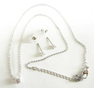 No.8 ネックレス ペンダント  ピアス セット Attract