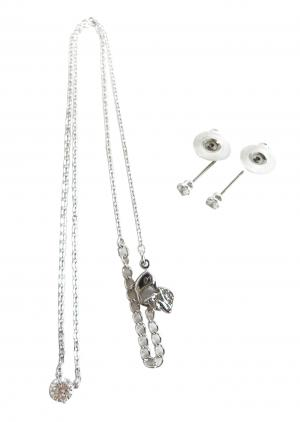 No.9 ネックレス ペンダント  ピアス セット Attract