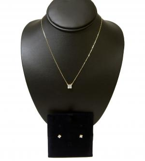 No.3 ネックレス ペンダント ピアス セット Attract Square