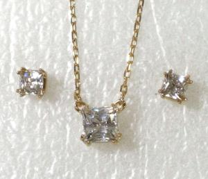 No.7 ネックレス ペンダント ピアス セット Attract Square