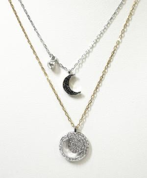 No.4 ネックレス ペンダント Crystal Wishes Moon ムーン