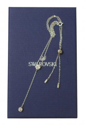 スワロフスキー ネックレス Y字型 Attract アトラクト ロジウム