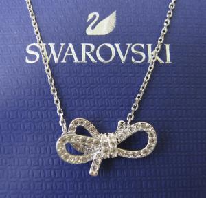 スワロフスキー ネックレス ペンダント リボン Lifelong Bow ライフロングボウ