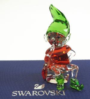 スワロフスキー 置物 フィギュア クリスタル サンタの妖精 エルフ