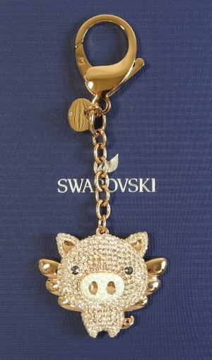 スワロフスキー バッグチャーム  Little Pig リトルピッグ 子豚 ブタ