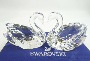 スワロフスキー 置物 フィギュア クリスタル スワン カップル Swan Couple 白鳥