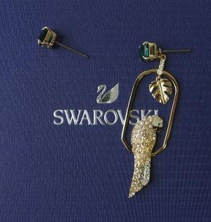 スワロフスキー ピアス Tropical Parrot トロピカル パロット オウム