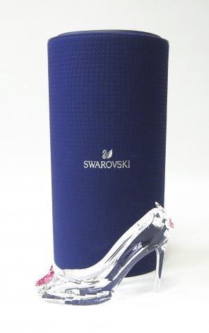 スワロフスキー 置物 フィギュア クリスタル ハイヒールとチョウ  バタフライ 靴