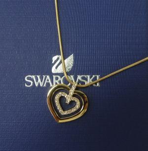 スワロフスキー ネックレス ペンダント サークルハート Circle Heart