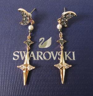 スワロフスキー ピアス Swarovski Symbolic 月 ジャケットピアス