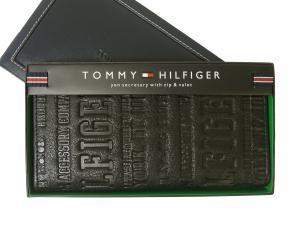 トミーヒルフィガー 長財布 メンズ  二つ折り(ブラック) EASTBOURNE
