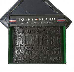 トミーヒルフィガー 財布 メンズ EASTBOURNE 二つ折り(ブラック)