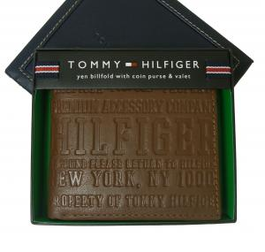 トミーヒルフィガー 財布 メンズ EASTBOURNE 二つ折り(タン)