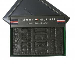 トミーヒルフィガー 名刺入れ カードケース メンズ EASTBOURNE(ブラック)