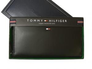 トミーヒルフィガー 長財布 メンズ ラウンドファスナー(ブラック)HIGHLAND