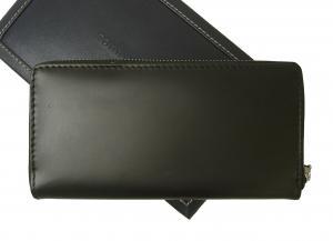 No.3 長財布 メンズ ラウンドファスナー(ブラック)HIGHLAND