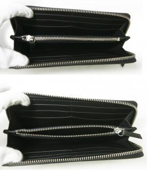No.5 長財布 メンズ ラウンドファスナー(ブラック)HIGHLAND