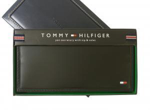 トミーヒルフィガー 長財布 メンズ 二つ折(ブラック)HIGHLAND