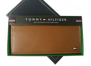 トミーヒルフィガー 長財布 メンズ 二つ折(タン)HIGHLAND