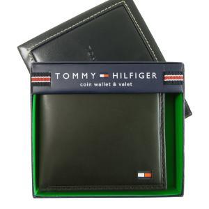 トミーヒルフィガー 財布 メンズ 二つ折(ブラック)HIGHLAND
