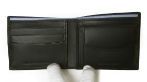 No.5 財布 メンズ 二つ折(ブラック)HIGHLAND